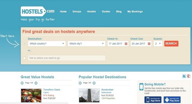 En İyi Hostel Arama Siteleri