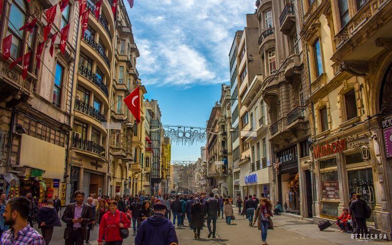 İstiklal Caddesi Taksim Beyoğlu