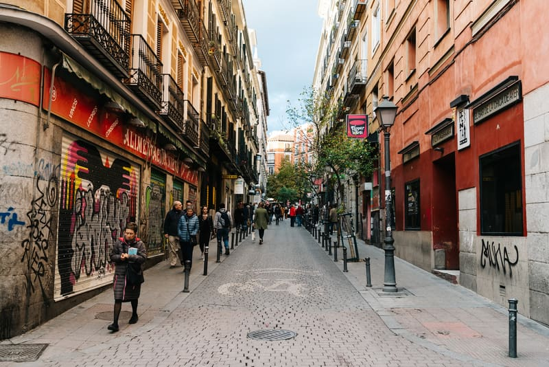 Malasana Bölgesi Madrid