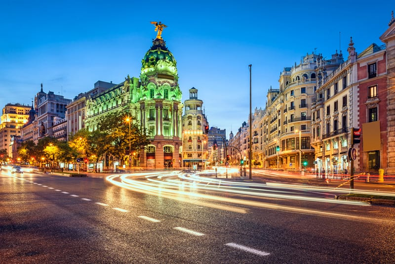 Gran Via Caddesi Madrid