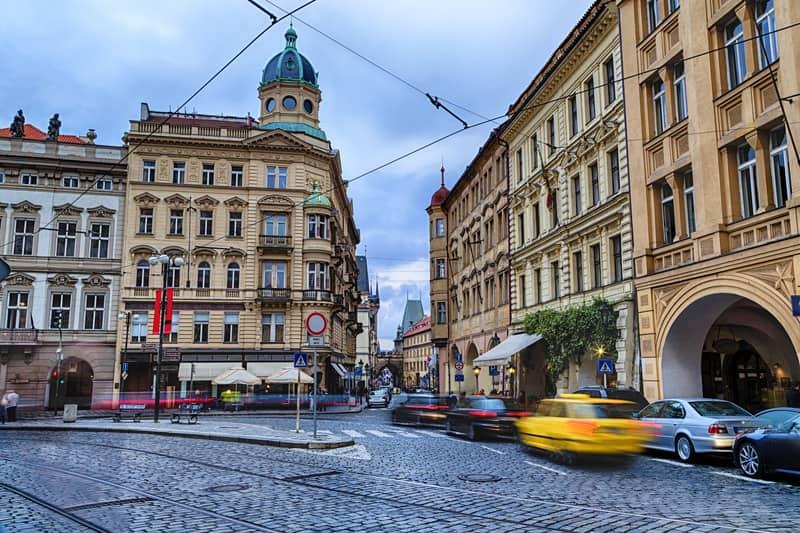 Mala Strana Caddesi Prag