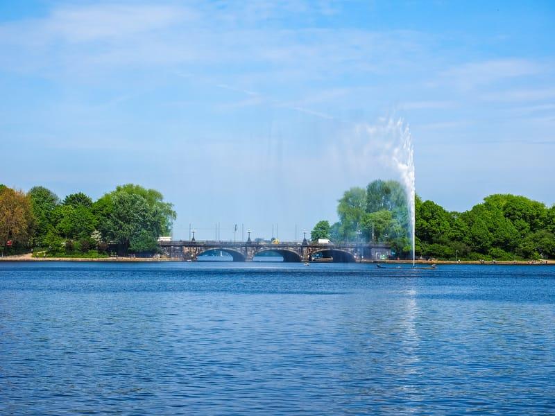 Binnenalster - Alster Gölü
