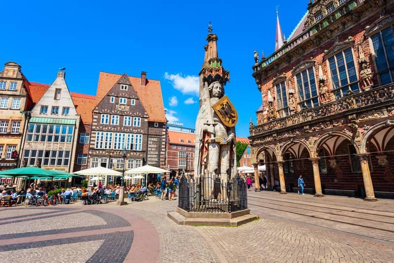 Roland Heykeli Bremen Meydanı