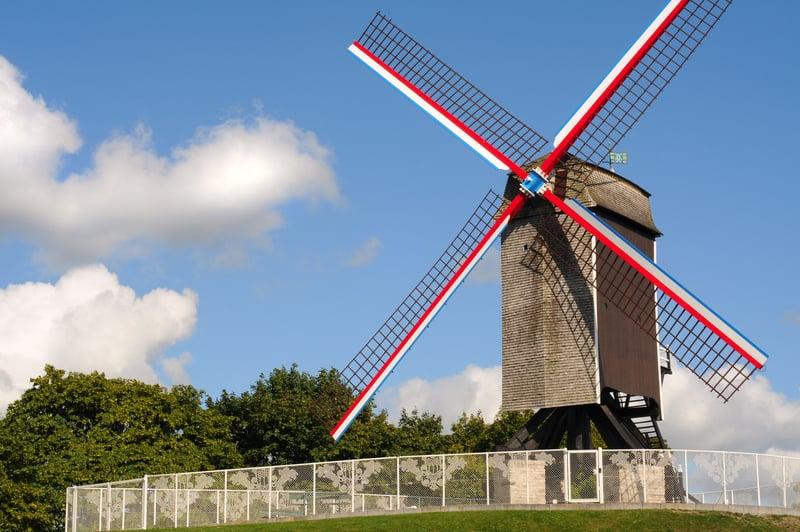 Yel Değirmeni - Windmill Brugge Gezilecek Yerler