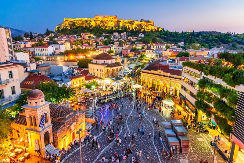 Monastiraki Meydanı Atina