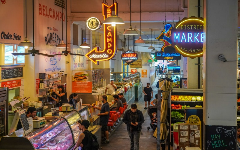 Grand Central Market - Los Angeles Gezilecek Yerler Blog