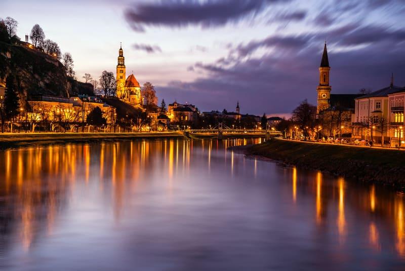 Salzburg Gece Manzarası