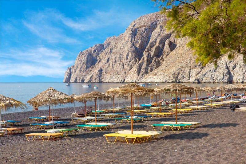 Kamari Plajı Santorini
