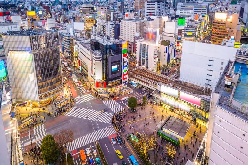 Shibuya Bölgesi Tokyo