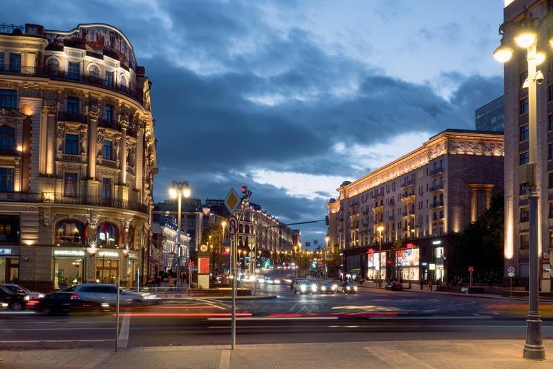 VERSKAYA CADDESi akşam, Moskova