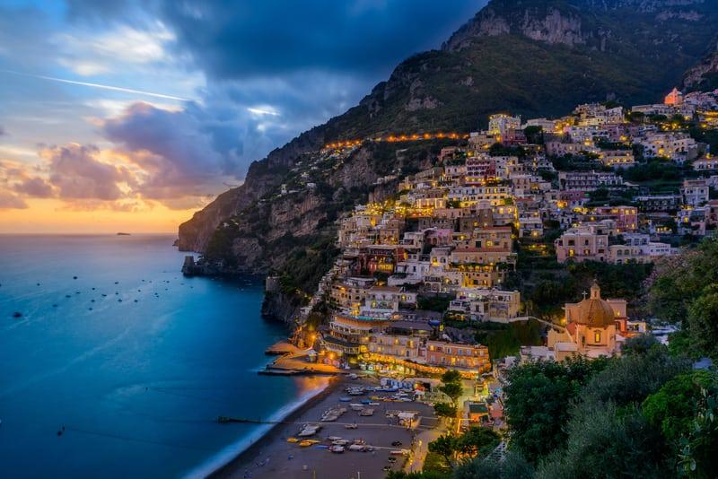 Positano Kasabası Amalfi
