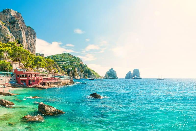 Marina Piccola Capri Adası