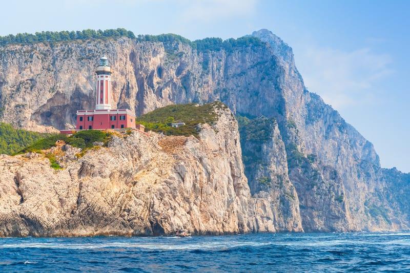 Punta Carena Deniz Feneri Capri Adası
