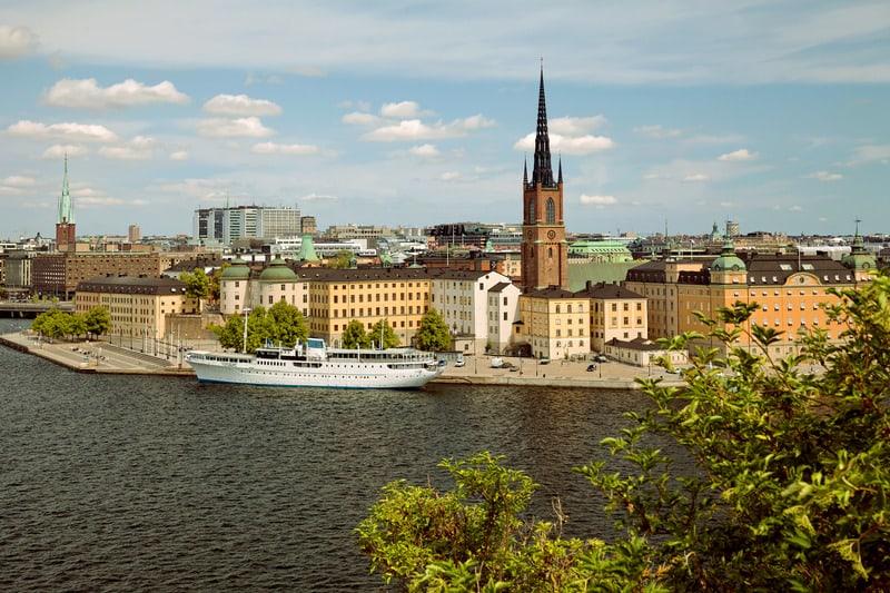Monteliusvagen Manzarası Stockholm