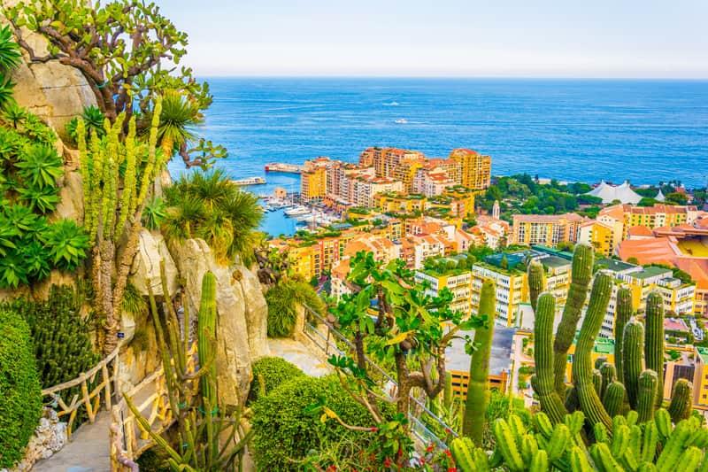 Egzotik bahçe Monaco