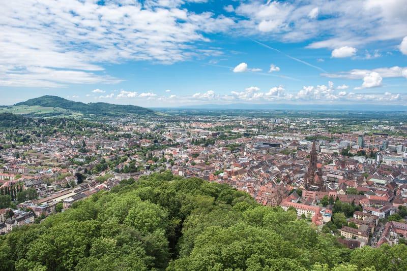 Schlossberg Manzarası Freiburg, Almanya