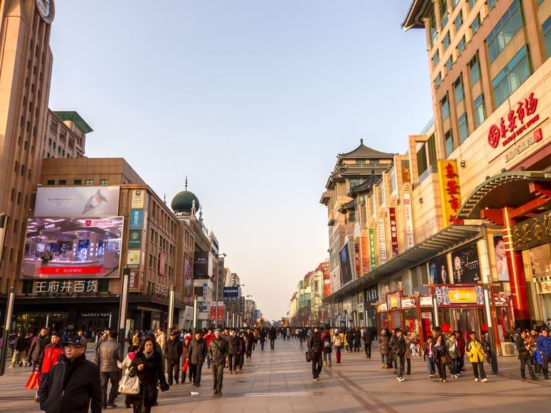 Wangfujing Caddesi