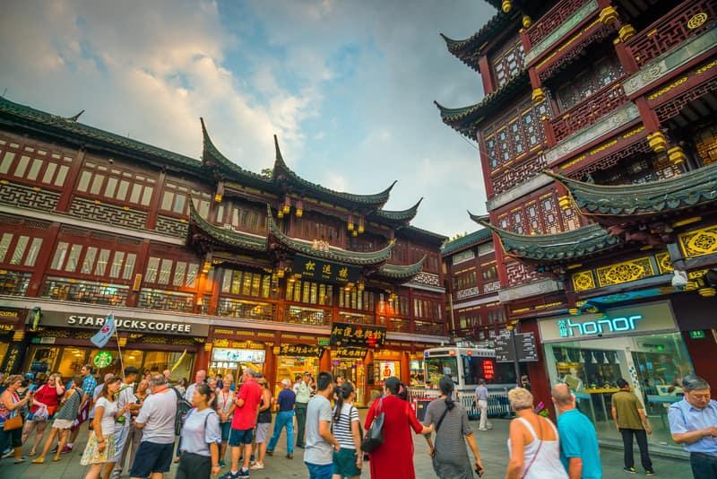 Yuyuan Bahçesi Şangay'ın En Güzel Yerlerinden