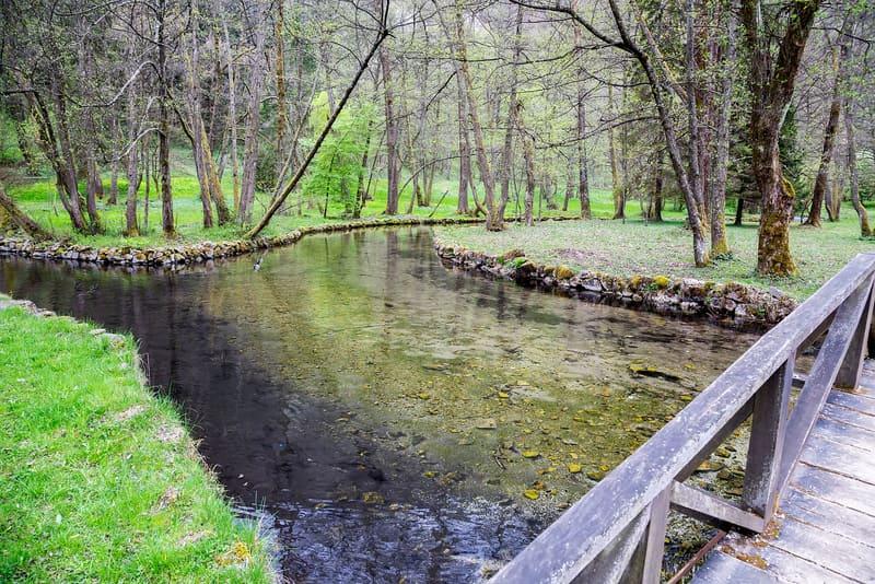 Ilidza yakınlarındaki Ormanlık Alan ve Nehir