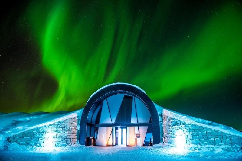İcehotel ve Kuzey Işıkları İsveç