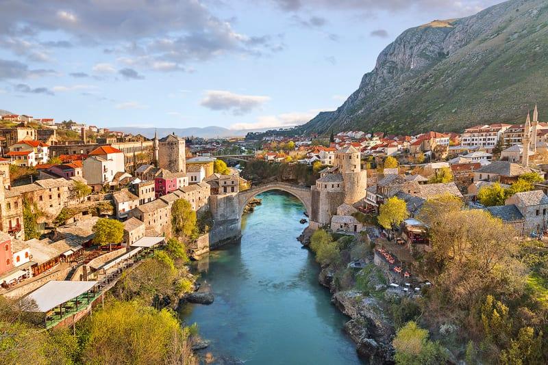 Mostar Köprüsü - Bosna Hersek Şehirleri
