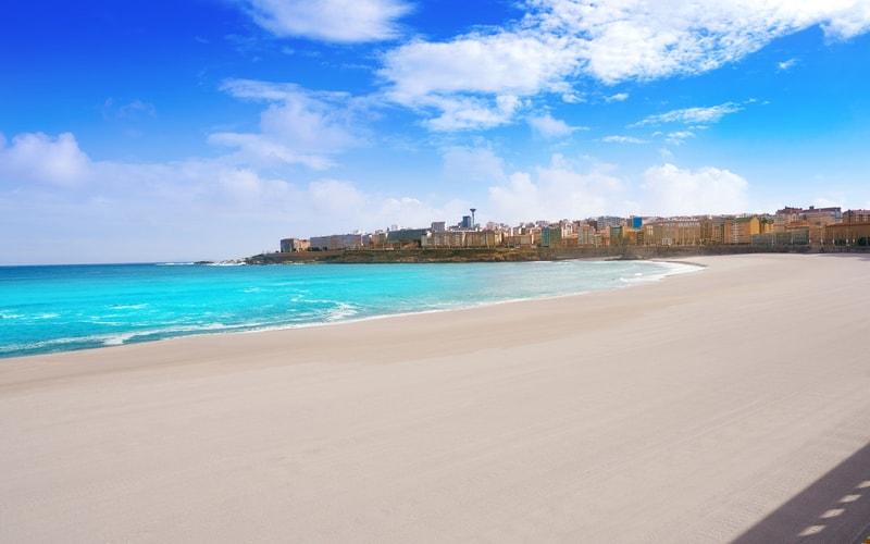 a Coruna plajı