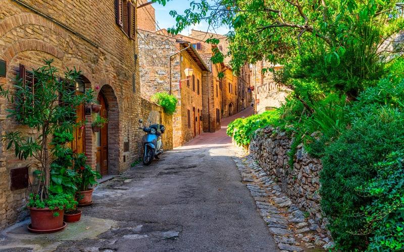 San Gimignano Tarihi Sokakları